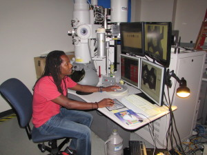 Using scanning electron microscope